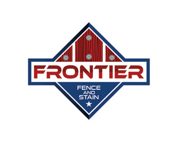 Frontier Fence and Stain logo design