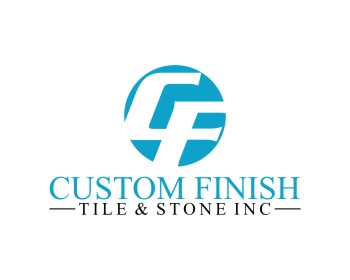 Custom Finish Tile & Stone Inc logo design