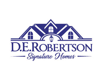 D.E.Robertson Signature Homes logo design