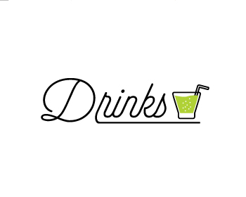 DRINKS logo design