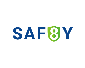 Saf8y   (safety) logo design
