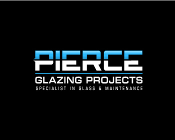 Pierce Glazing Projects logo design