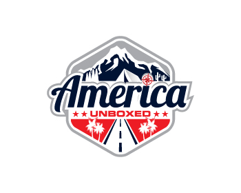 Travel & Hospitality logo design for America Unboxed