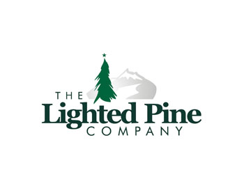 The Lighted Pine Company logo design