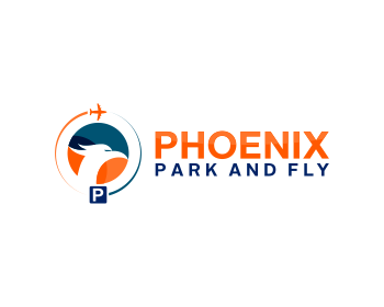 Phoenix Park and Fly logo design