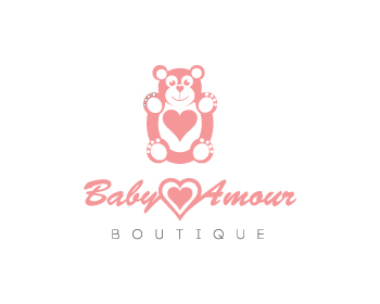 Baby Amour, boutique logo design