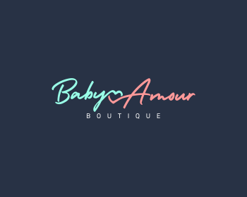 Logo design for Baby Amour, boutique