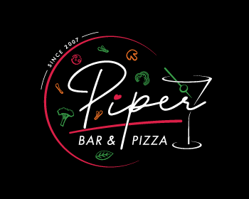 Piper | Bar&Pizza logo design