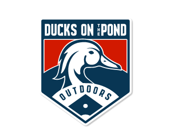 Ducks on the pond outdoors logo design