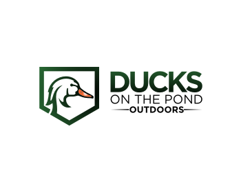Logo Ducks on the pond outdoors