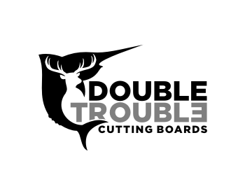 Double Trouble Cutting Boards logo design