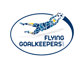 flying goalkeepers logo design