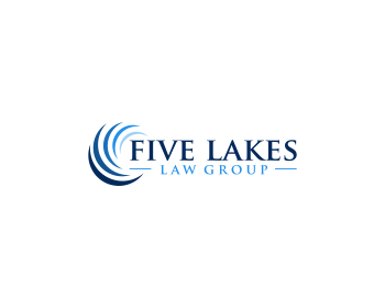 Legal logo design for Five Lakes Law Group