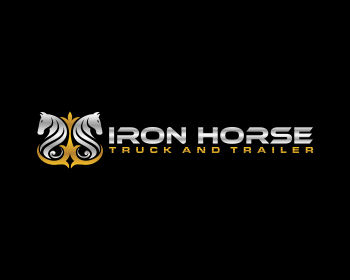 iron horse truck and trailer logo design