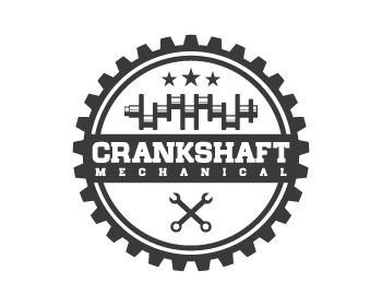 Crankshaft Mechanical logo design