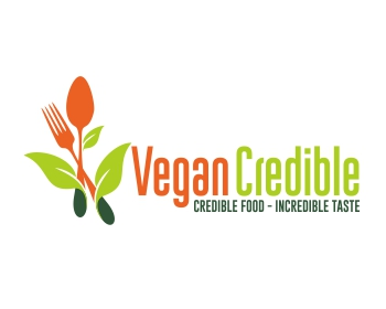 VeganCredible logo design
