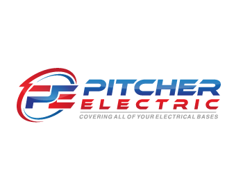 Pitcher Electric logo design