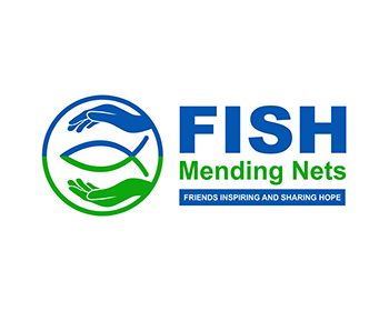 FISH Mending Nets - Friends Inspiring and Sharing Hope logo design