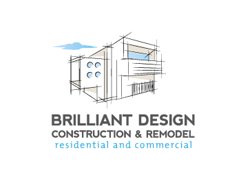 Brilliant Design Construction & Remodel logo design