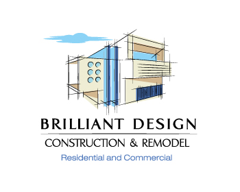 Logo Brilliant Design Construction & Remodel