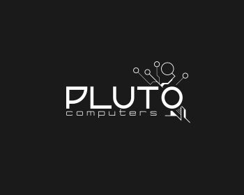 Pluto Computers logo design