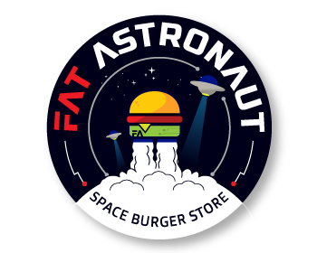 FAT ASTRONAUT logo design
