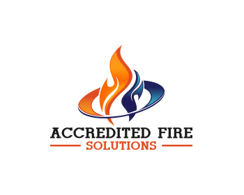 Accredited Fire Solutions logo design