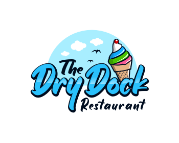Logo design for The Dry Dock Restaurant & Ice Cream Bar