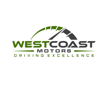 WESTCOAST MOTORS logo design