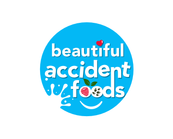 beautiful accident foods logo design