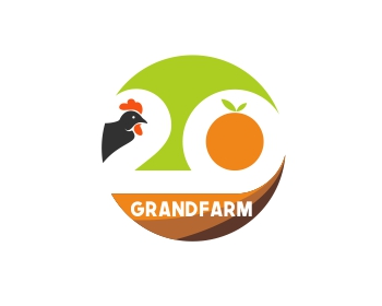 20 Grand Farm logo design