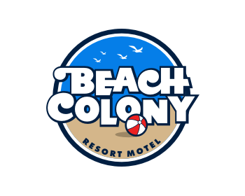 Beach Colony logo design