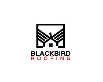 Blackbird Roofing logo design