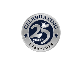 celebrating 25 years logo design