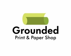 Grounded Print and Paper Shop logo design