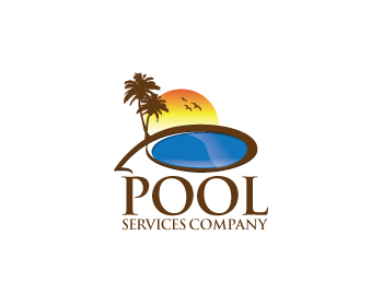 Logo design entry number 127 by dream4u pool services for Pool design logo