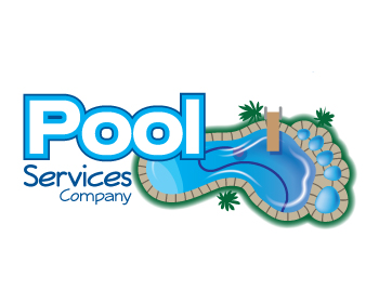 Pool Services Company logo design