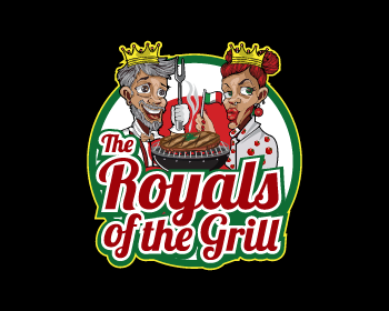 The Royals of the Grill logo design