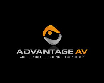 Advantage Audio Visual logo design