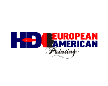 HD European American Painting logo design