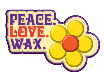 Logo Peace. Love. Wax.