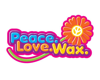 Peace. Love. Wax. logo design