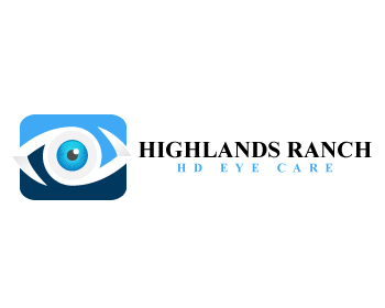 Highlands Ranch HD Eye Care logo design