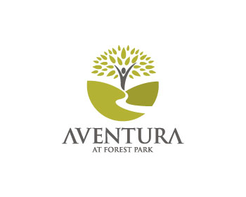 Aventura at Forest Park logo design