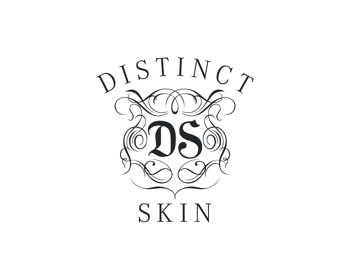 Distinct Skin logo design