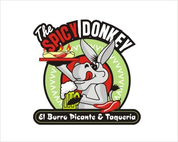 El Burro Picante/The Spicy Donkey logo design