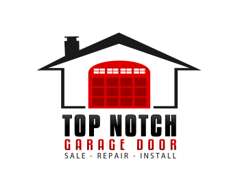 Top Notch Garage Door logo design
