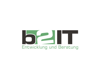 b2 IT logo design