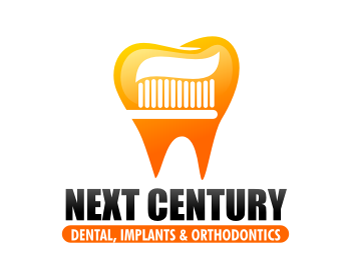 Next Century Dental, Implants & Orthodontics logo design