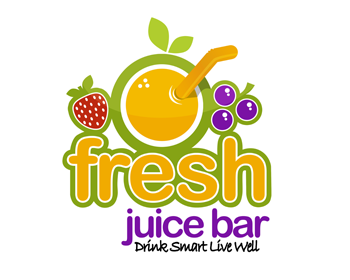 logo design entry number 89 by adrianus fresh juice bar